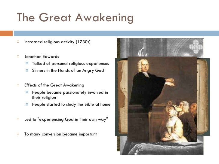 what factors caused the great awakening While the enlightenment was shaping the minds of 18th-century colonists, another movement, the first great awakening, was shaping their hearts.