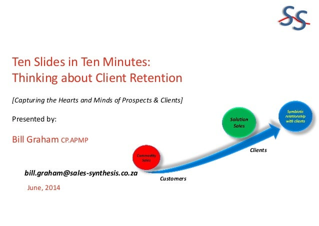 SS Ten Slides in Ten Minutes: Thinking about Client Retention [Capturing the Hearts and Minds of Prospects & Clients] Pres...
