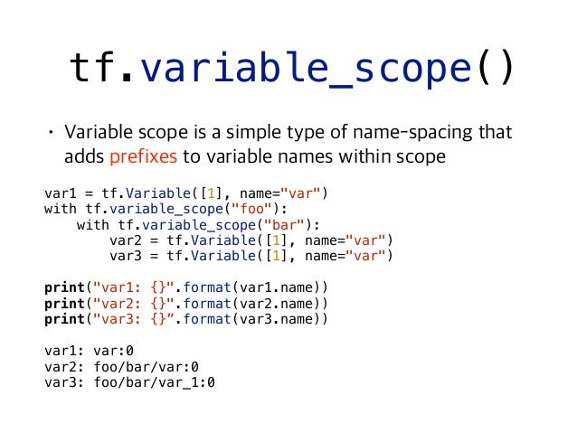 tf.get_variable() False ValueError True ValueError
