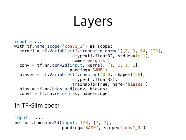 # Define the loss functions and get the total loss. loss1 = slim.losses.softmax_cross_entropy(pred1, label1) loss2 = sli...