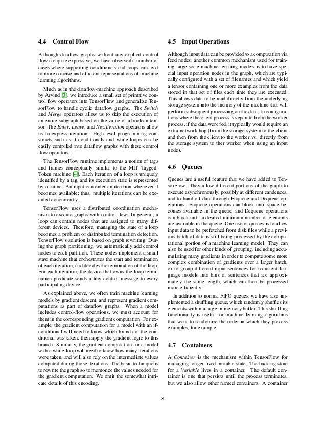 Tensor flow white paper