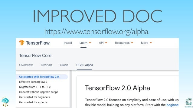 Tensorflow 2 0 and Keras: What's new, what's shared, what's