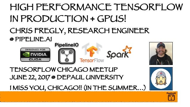 High Performance Distributed TensorFlow with GPUs