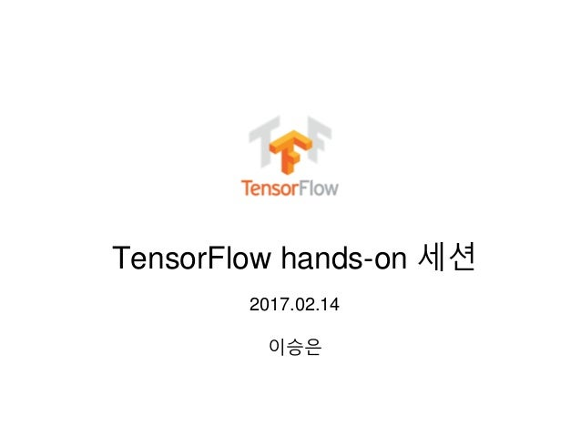 TensorFlow hands-on 세션 2017.02.14 이승은