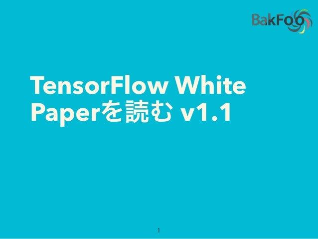 TensorFlow White Paperを読む v1.1 1