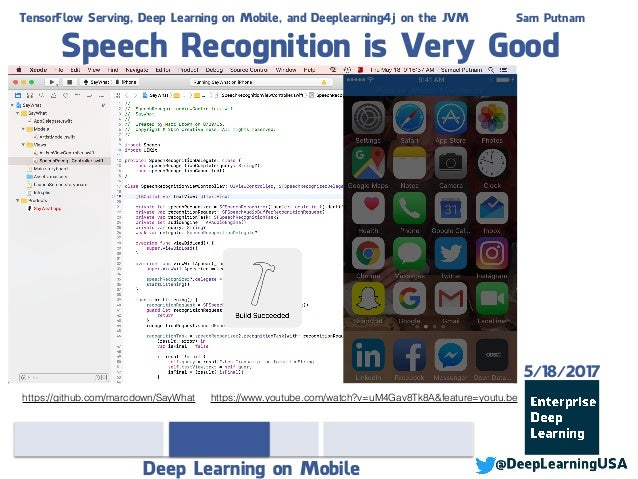 TensorFlow Serving, Deep Learning on Mobile, and