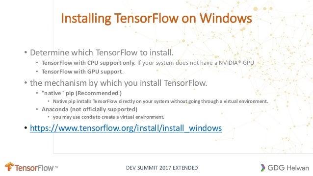 install tensorflow in windows