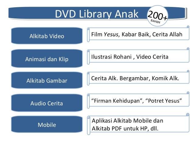 DVD Library AnakDVD Library Anak Alkitab Gambar Alkitab Video Animasi dan Klip Audio Cerita Mobile Cerita Alk. Bergambar, ...