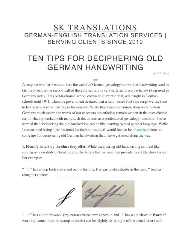 Top ten tips for deciphering old german handwriting spiritdancerdesigns Gallery