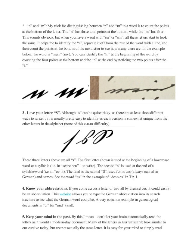 Top ten tips for deciphering old german handwriting 3 spiritdancerdesigns Images