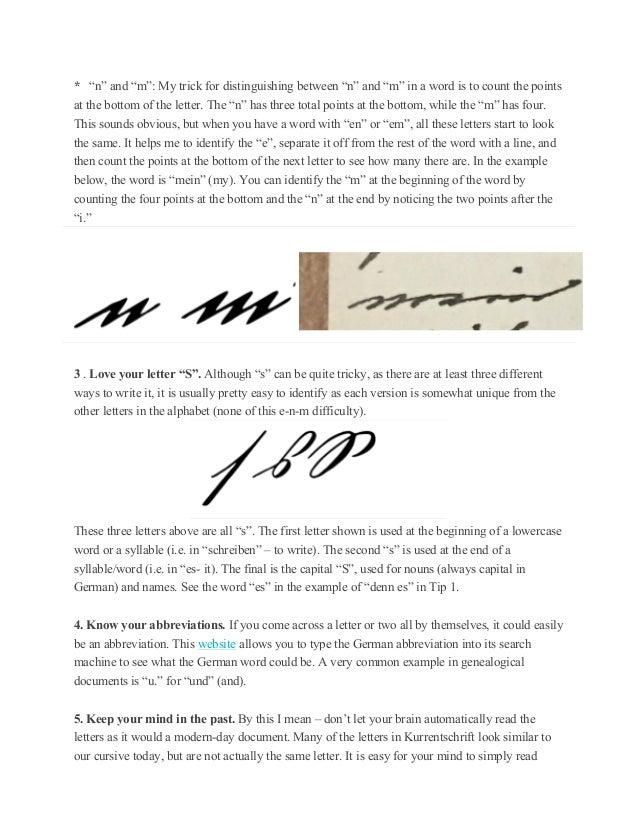 Top ten tips for deciphering old german handwriting 3 spiritdancerdesigns Gallery
