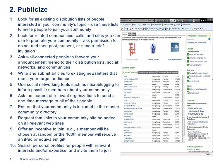 Ten tips for leading communities(deloitte) Slide 3