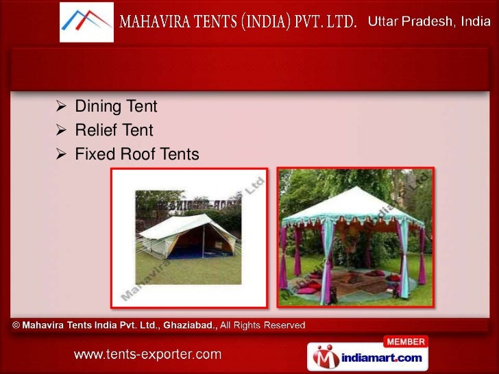 Dining Tent? Relief Tent? Fixed Roof Tents ...  sc 1 st  SlideShare & Tents and Decoration by Mahavira Tents India Private Limited Ghaziabu2026 memphite.com
