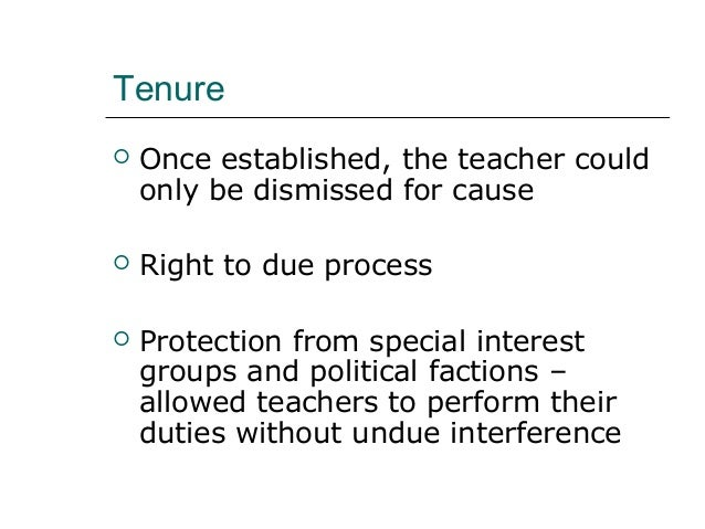 Dissertation and dismissal of tenured teachers