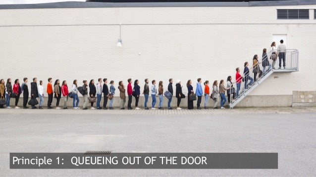 3  Principle 1: QUEUEING OUT OF THE DOOR