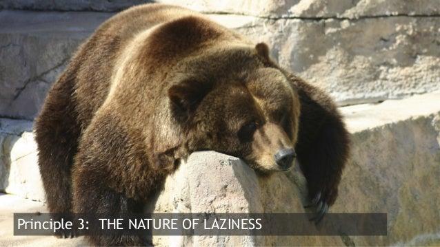 8  Principle 3: THE NATURE OF LAZINESS