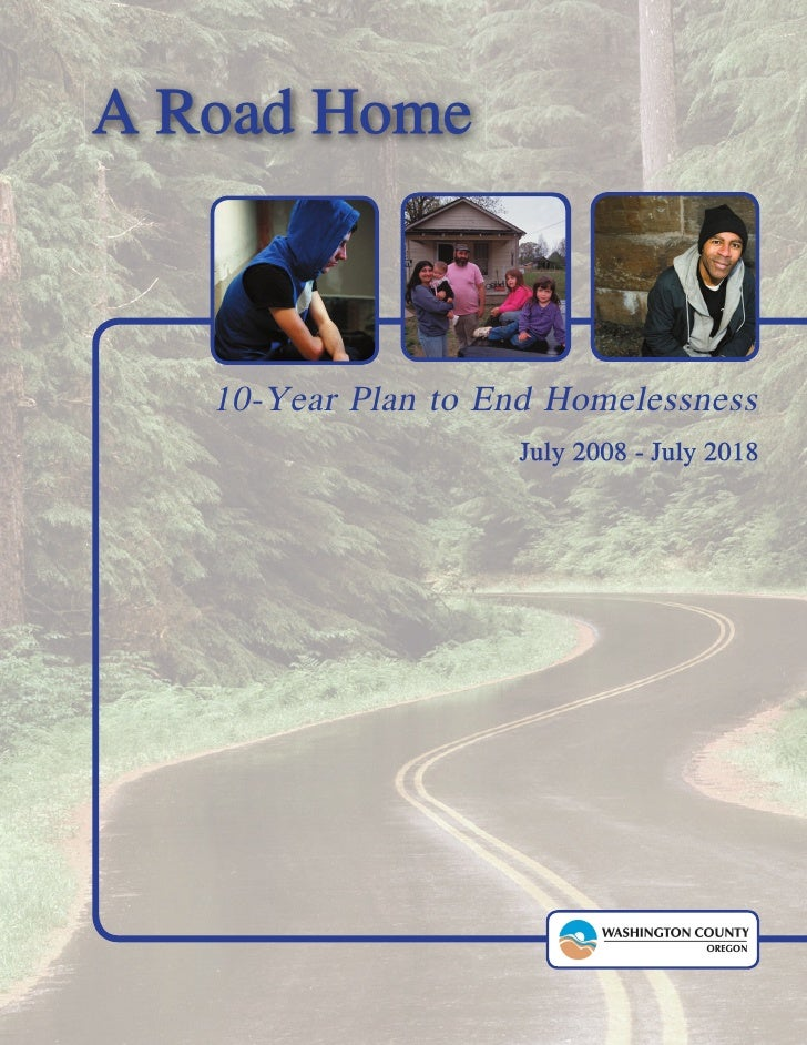 Ten Year Plan to End Homelessness: Washington County, OR