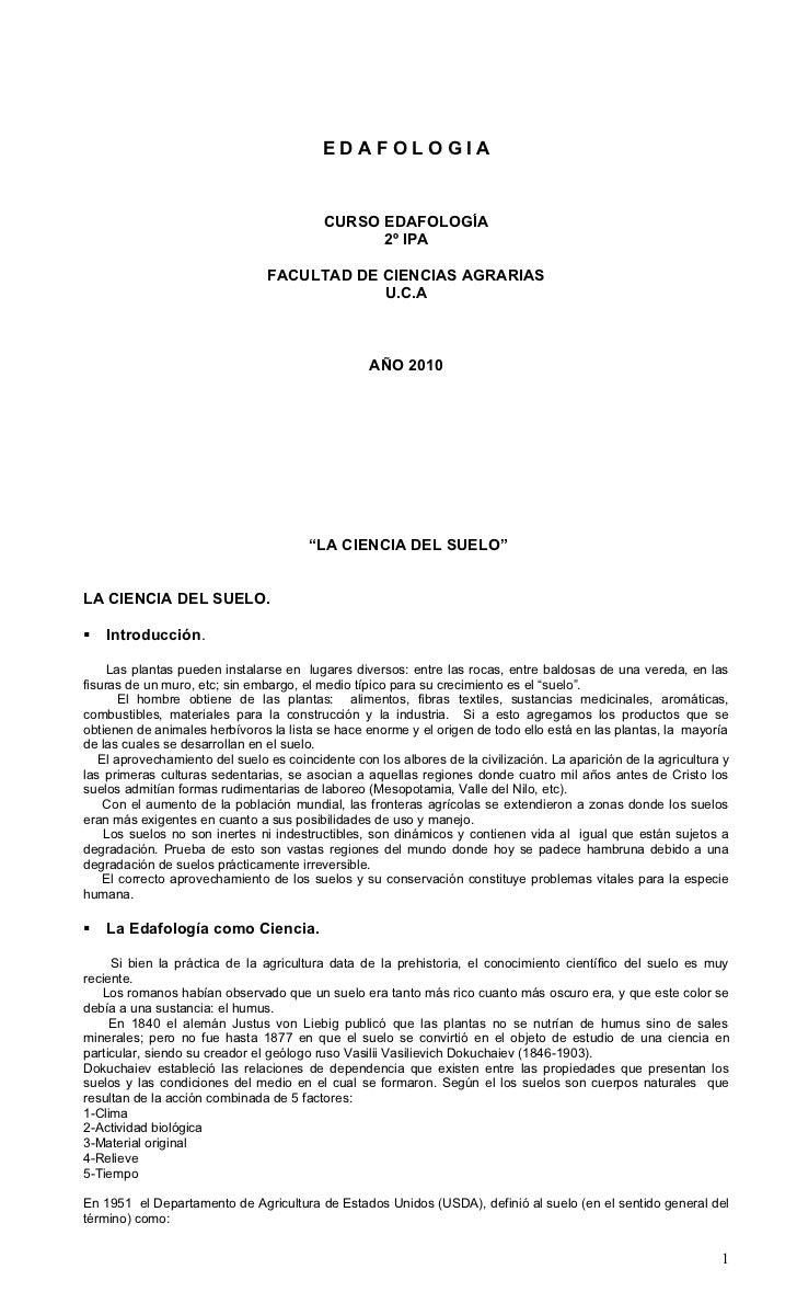 EDAFOLOGIA                                          CURSO EDAFOLOGÍA                                                2º IPA...