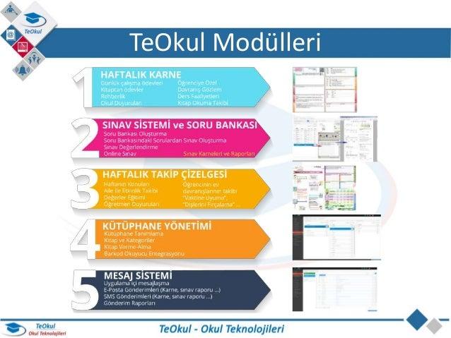 TeOkul Okul Teknolojileri - Okul Yönetim Sistemi Slide 3