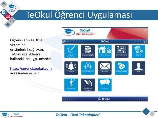 TeOkul Öğrenci Uygulaması Slide 2