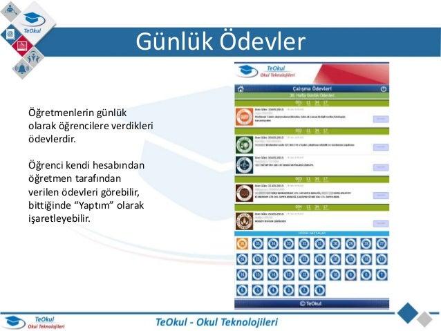 TeOkul Öğrenci Uygulaması Slide 3