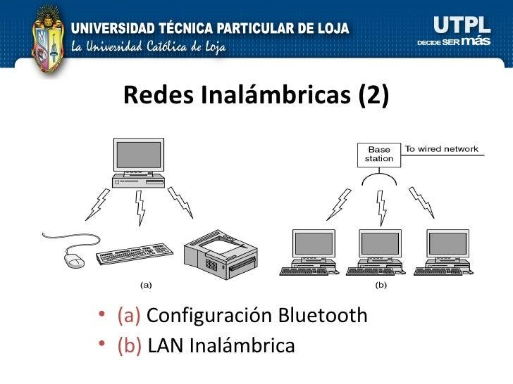 Redes Inalámbricas (2) <ul><li>(a)  Configuración Bluetooth </li></ul><ul><li>(b)  LAN Inalámbrica </li></ul>