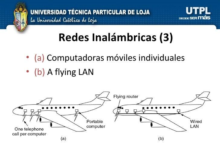 Redes Inalámbricas (3) <ul><li>(a)  Computadoras móviles individuales </li></ul><ul><li>(b)  A flying LAN </li></ul>