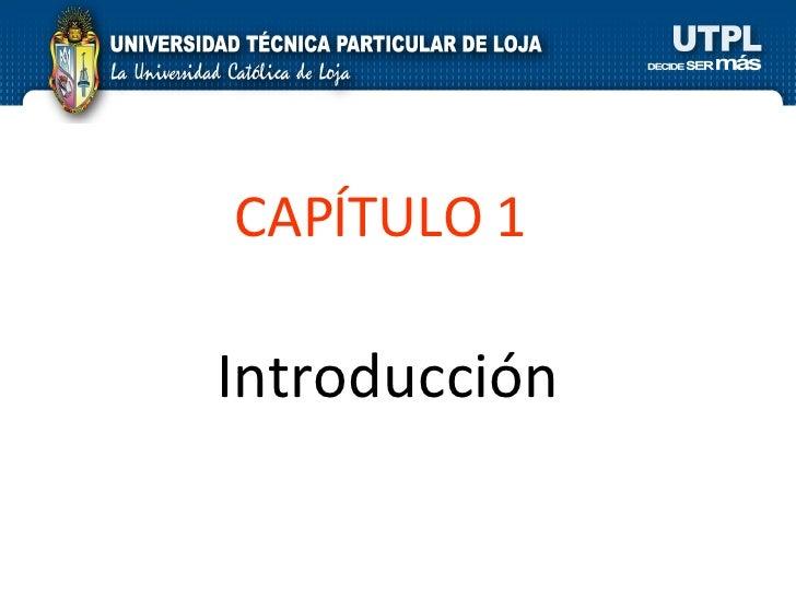 Introducción CAPÍTULO 1