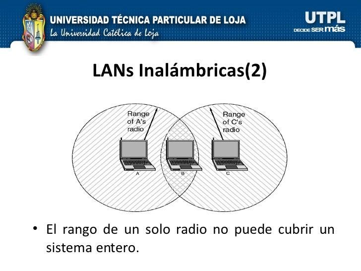 LANs Inalámbricas(2) <ul><li>El rango de un solo radio no puede cubrir un sistema entero. </li></ul>