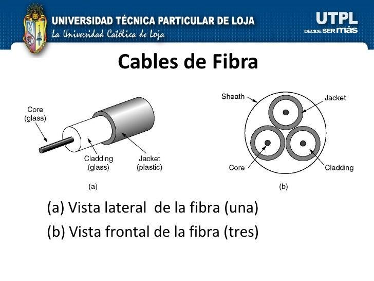 Cables de Fibra <ul><li>Vista lateral  de la fibra (una)  </li></ul><ul><li>Vista frontal de la fibra (tres) </li></ul>