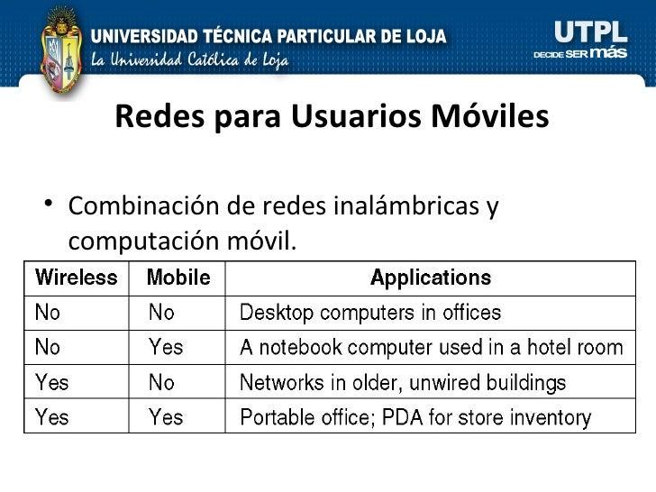 Redes para Usuarios Móviles <ul><li>Combinación de redes inalámbricas y computación móvil. </li></ul>