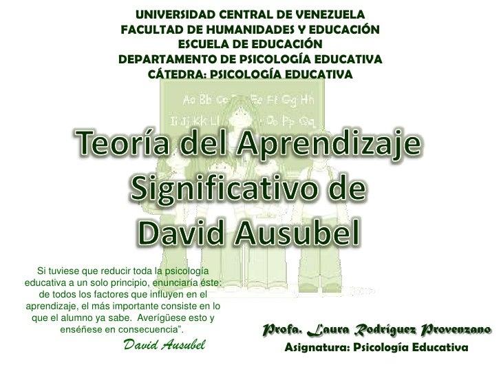 UNIVERSIDAD CENTRAL DE VENEZUELA                      FACULTAD DE HUMANIDADES Y EDUCACIÓN                              ESC...