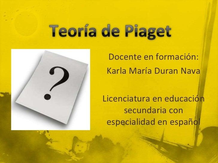Docente en formación: Karla María Duran NavaLicenciatura en educación     secundaria con especialidad en español