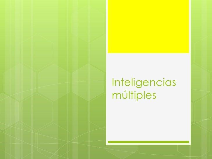 Inteligenciasmúltiples