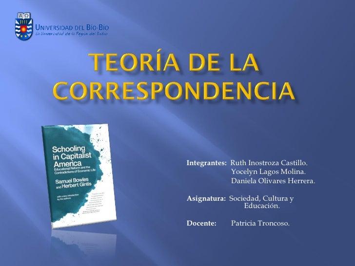 Integrantes: Ruth Inostroza Castillo.             Yocelyn Lagos Molina.             Daniela Olivares Herrera.Asignatura: S...