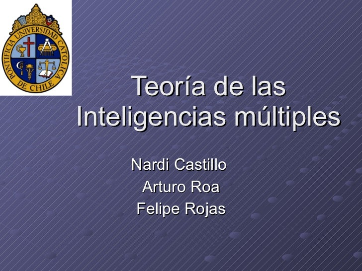 Teoría de las Inteligencias múltiples Nardi Castillo  Arturo Roa Felipe Rojas
