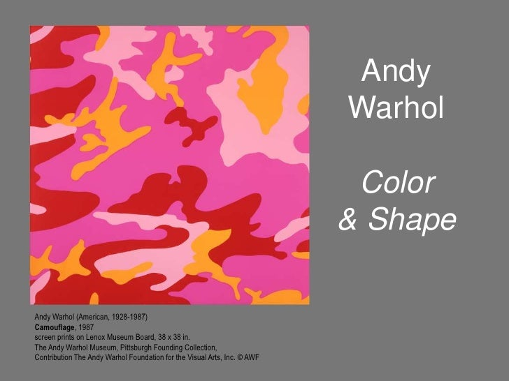 Andy WarholColor & Shape<br />Andy Warhol (American, 1928-1987)<br />Camouflage, 1987<br />screen prints on Lenox Museum B...