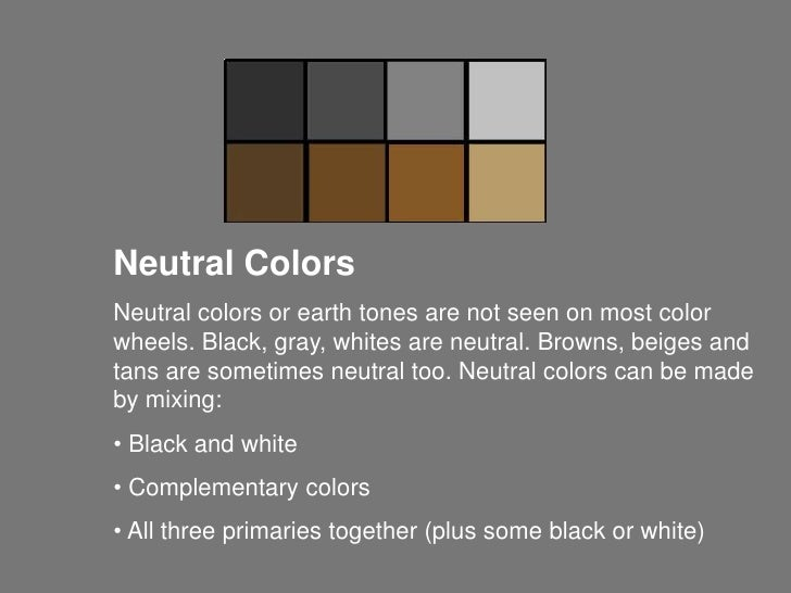 What Are Neutral Colors teoría del color aw
