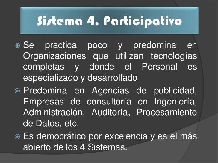 Comparación                       Sistema 4de Variables                     Participativo                  Delegado y desc...