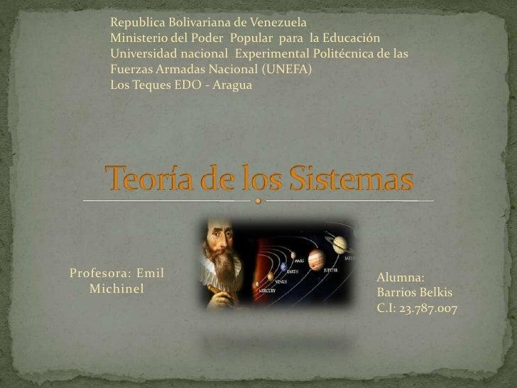 Republica Bolivariana de Venezuela<br />Ministerio del Poder  Popular  para  la Educación<br />Universidad nacional  Exper...