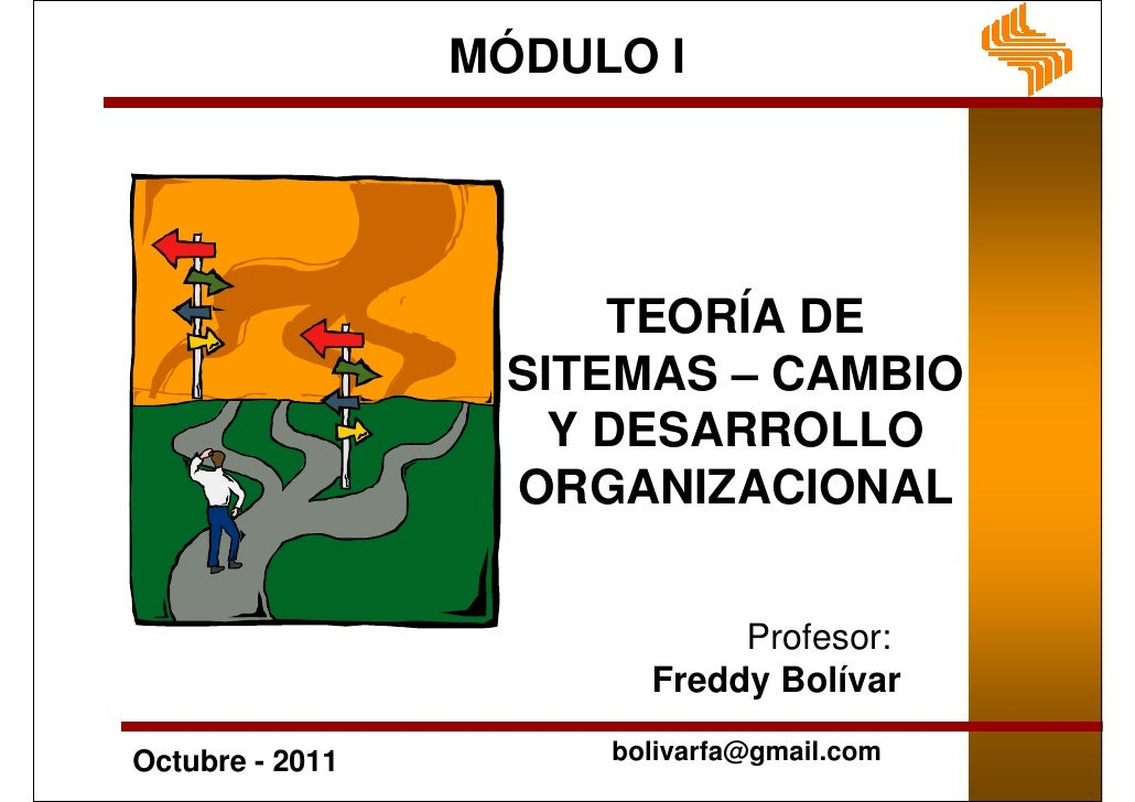 MÓDULO I                      TEORÍA DE                  SITEMAS – CAMBIO                    Y DESARROLLO                 ...
