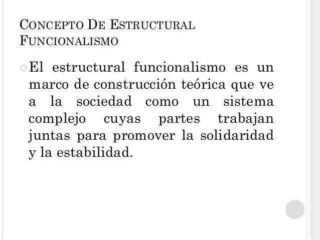 Teoría Estructural Funcionalismo