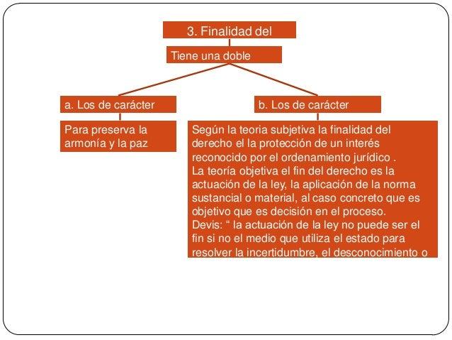 3. Finalidad del proceso  Tiene una doble variante : a. Los de carácter general Para preserva la armonía y la paz  b. Los ...