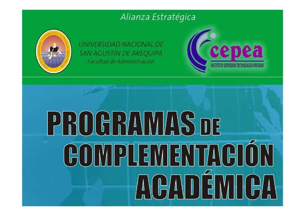 PCA - Licenciatura en Gestión