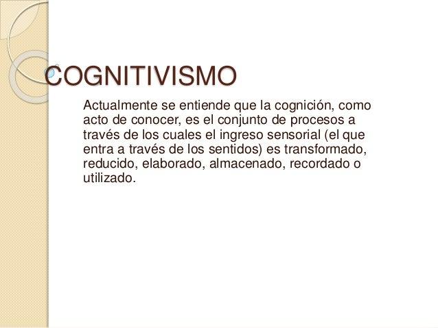 Teorías cognitivistas del aprendizaje diapositivas Slide 2