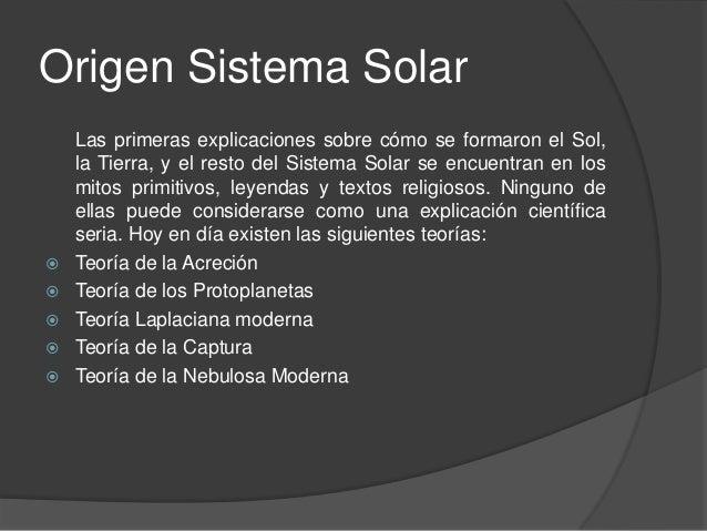 Teor 237 As Del Origen Del Sistema Solar