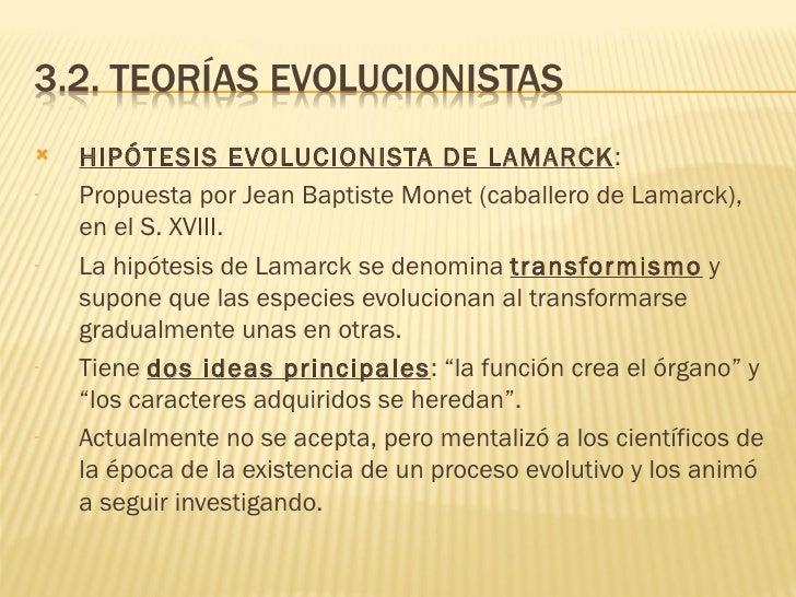 Teorías sobre la evolución de las especies Slide 3