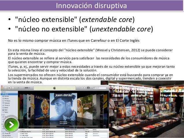 """Innovación disruptiva • """"núcleo extensible"""" (extendable core) • """"núcleo no extensible"""" (unextendable core) No es lo mismo ..."""