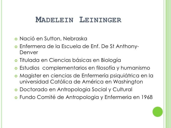 madeliene leininger Madeleine leininger nació en sutton, nebraska, el 13 de junio de 1995 e inició su carrera profesional después de diplomarse en la escuela de enfermería de st anthony, en denver.