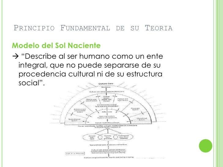 """PRINCIPIO FUNDAMENTAL DE SU TEORIAModelo del Sol Naciente """"Describe al ser humano como un ente integral, que no puede sep..."""
